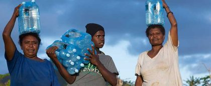 Clean and safe water was received in the wake of Cyclone Pam