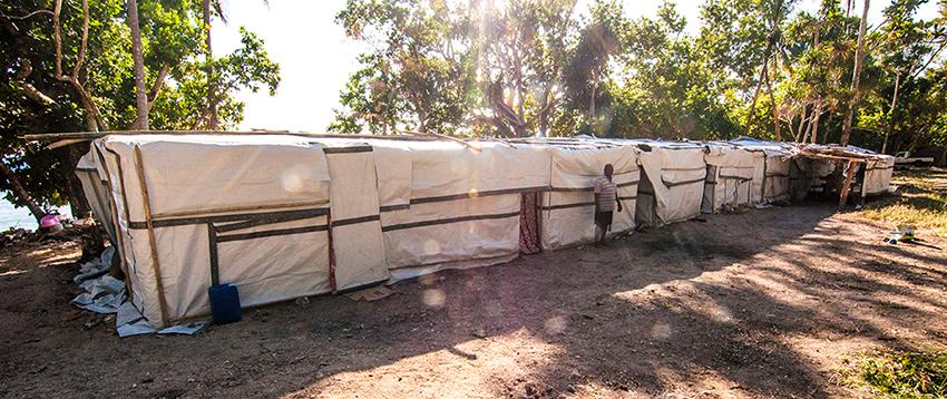 Ambae evacuee tents