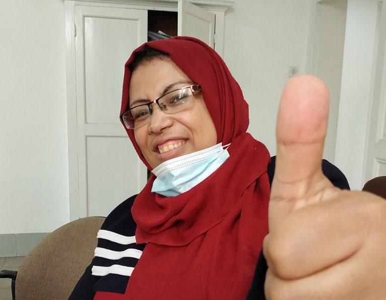 Making a stand for women's health in Gaza this International Women's Day #Choosetochallenge